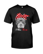 Pittie Mom Shirt for Pitbull Dog Lovers Classic T-Shirt front