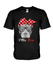 Pittie Mom Shirt for Pitbull Dog Lovers V-Neck T-Shirt thumbnail