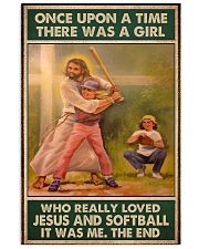 jesus and softball girl once upon a time poster 11x17 Poster front