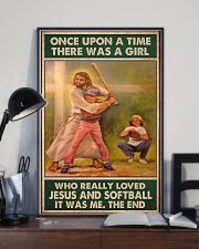 jesus and softball girl once upon a time poster 11x17 Poster lifestyle-poster-2