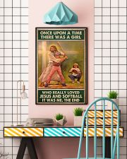 jesus and softball girl once upon a time poster 11x17 Poster lifestyle-poster-6