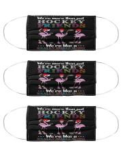 Flamingo Friends Hockey Gang mas Cloth Face Mask - 3 Pack front