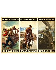 fisherman not a phase pt phq ngt 17x11 Poster front