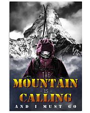 skiing the mountain is calling and i must go 11x17 Poster front