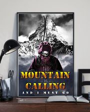 skiing the mountain is calling and i must go 11x17 Poster lifestyle-poster-2