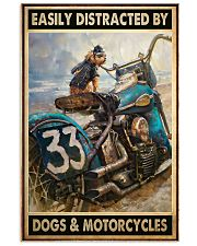 motorcycles dogs easily distracted pt dvhh pml 11x17 Poster front