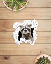 raccoon crack sticker Sticker - 6 pack (Horizontal) aos-sticker-6-pack-horizontal-lifestyle-front-07