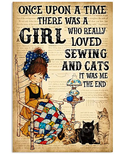 There was a girl who really loved sewing and cat
