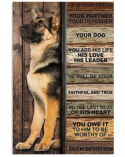 german shepherd he is your friend poster