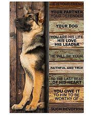 german shepherd he is your friend poster 11x17 Poster front