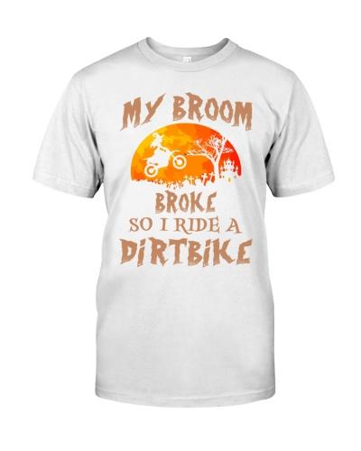 my broom broke so i ride a dirt bike