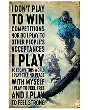 snowboarding don't play to win 11x17 Poster front