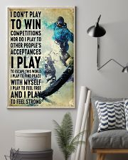 snowboarding don't play to win 11x17 Poster lifestyle-poster-1