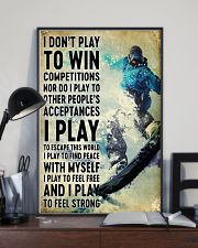 snowboarding don't play to win 11x17 Poster lifestyle-poster-2