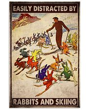 Rabbits skiing easily distracted by pt mttn-ngt 11x17 Poster front