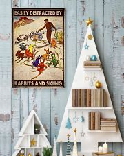 Rabbits skiing easily distracted by pt mttn-ngt 11x17 Poster lifestyle-holiday-poster-2