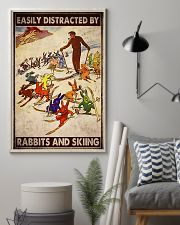 Rabbits skiing easily distracted by pt mttn-ngt 11x17 Poster lifestyle-poster-1