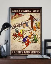 Rabbits skiing easily distracted by pt mttn-ngt 11x17 Poster lifestyle-poster-2