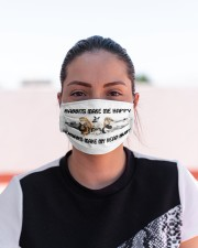 Make me happy rabbit mas Cloth Face Mask - 3 Pack aos-face-mask-lifestyle-03