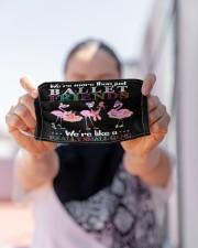 Flamingo Friends Ballet Gang mas Cloth Face Mask - 3 Pack aos-face-mask-lifestyle-07