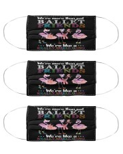 Flamingo Friends Ballet Gang mas Cloth Face Mask - 3 Pack front