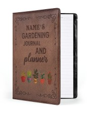 gardening notebook phq ngt Large - Leather Notebook front