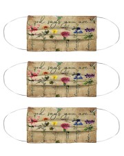 God says you are hummingbirds mas Cloth Face Mask - 3 Pack front