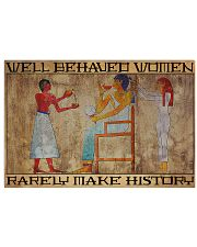 hair stylist ancient Egypt make history lqt NGT 17x11 Poster front