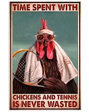 chicken tennis time spent pt lqt pml 11x17 Poster front