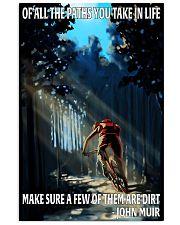 mountain biking all the paths you take 11x17 Poster front