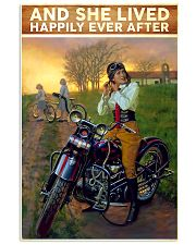 Motorcycle And She lived happily ever after 11x17 Poster front
