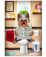 yorkie bathroom 11x17 Poster front