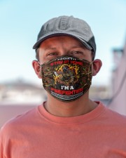 firefighter can't stay at home Cloth Face Mask - 3 Pack aos-face-mask-lifestyle-06