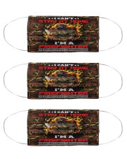 firefighter can't stay at home Cloth Face Mask - 3 Pack front