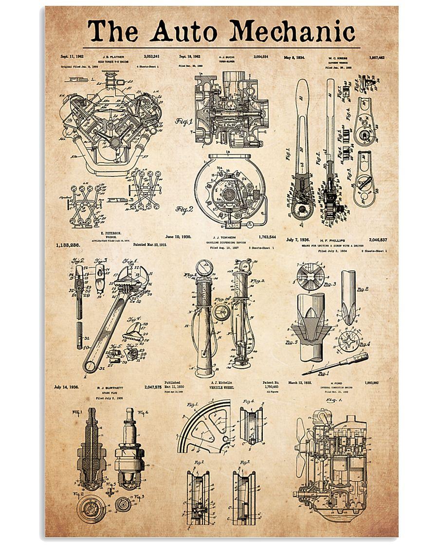 auto mechanic patent 24x36 Poster