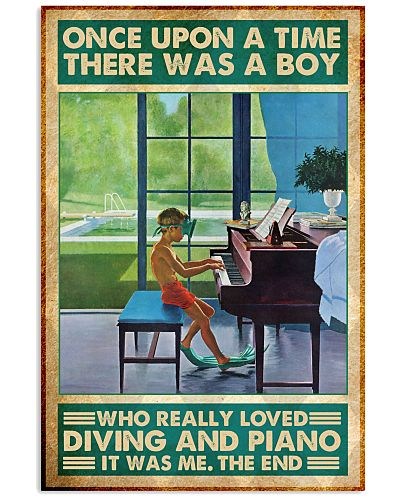 boy diving piano once upon a time poster