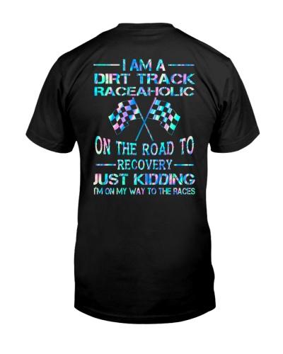 dirt track racing aholic neon shirt