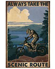 motocross take the scenic route 11x17 Poster front