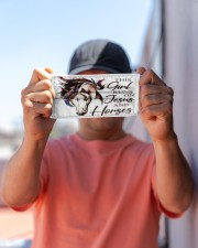 this girl runs on jesus and horses mas Cloth Face Mask - 3 Pack aos-face-mask-lifestyle-05
