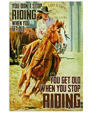 girl horse riding dont get old poster 16x24 Poster front