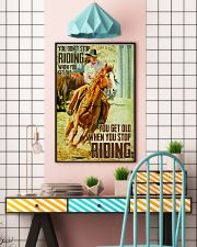 girl horse riding dont get old poster 16x24 Poster lifestyle-poster-6
