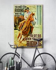 girl horse riding dont get old poster 16x24 Poster lifestyle-poster-7