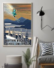 Skiing choose something fun colorful poster 11x17 Poster lifestyle-poster-1
