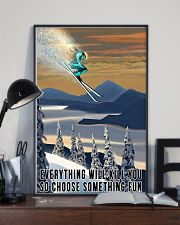 Skiing choose something fun colorful poster 11x17 Poster lifestyle-poster-2