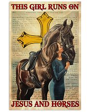 This Girl Runs On Jesus And Horse 16x24 Poster front