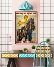 This Girl Runs On Jesus And Horse 16x24 Poster lifestyle-poster-6