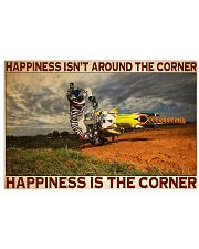 motocross Corner Happiness pt lqt dqh 24x16 Poster front