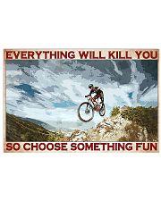 mountain biking kills you pt lqt pml 17x11 Poster front