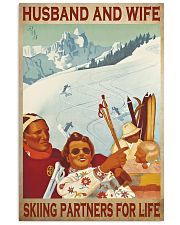 skiing partners for life poster 11x17 Poster front