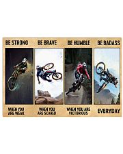 Mountain bike be strong be brave pt dvhh nna 17x11 Poster front